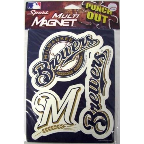 Milwaukee Brewers 12 Magnet Sheet