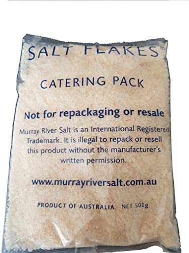 Murray River Salt Flakes 500g / 17.8 oz Catering Bag Gourmet pure natural pink low sodium chef preferred finishing salt 100% natural and pure rich in minerals and enzymes.