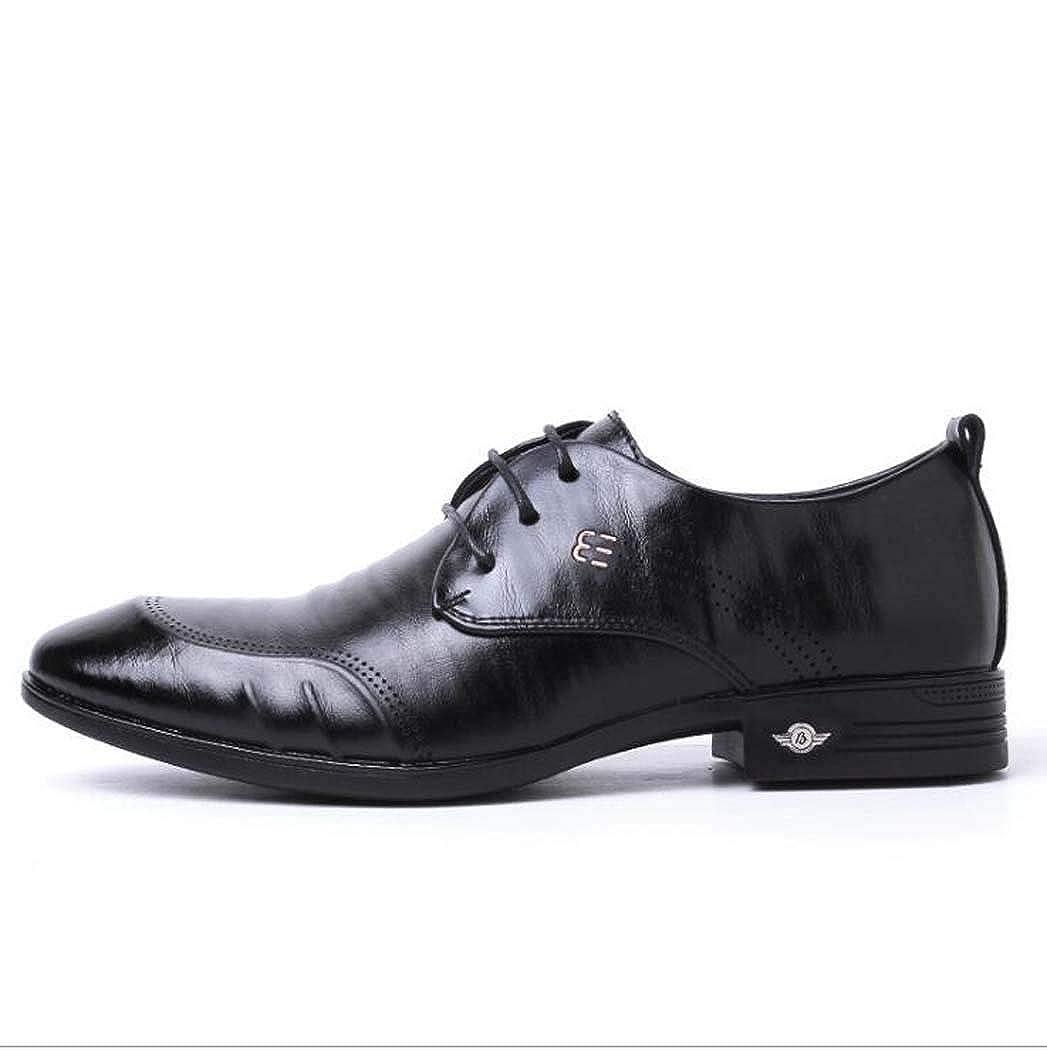 GAOPF Mens Casual Dress Work Shoe Tan Leather Slip-on Slip On Loafer Footwear Color : Black, Size : 39