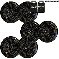 Kicker Black OEM Replacement Marine 6.5 4Ω Coaxial speaker Bundle - 6 Speakers