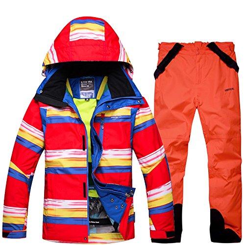 Sci Pantaloni Cerniera Impermeabile Donne M Da Antivento Dyf Uomini Fym Tuta arancio Giacca Giacche Caldo Cappotto Ry xRqf0Pf