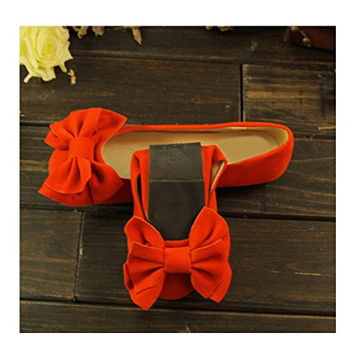 OCHENTA 2017 Nuevo Moda Zapatos Planos de Los Estudiantes de Gran Tamaño Naranja