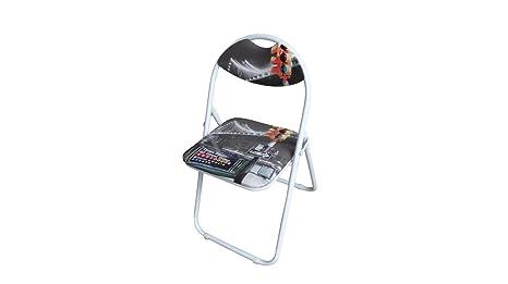 Liberoshopping set sedie pieghevoli in metallo richiudibili