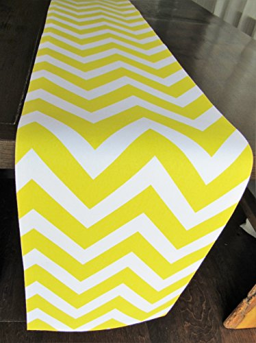 Yellow Chevron Table Runner Collection