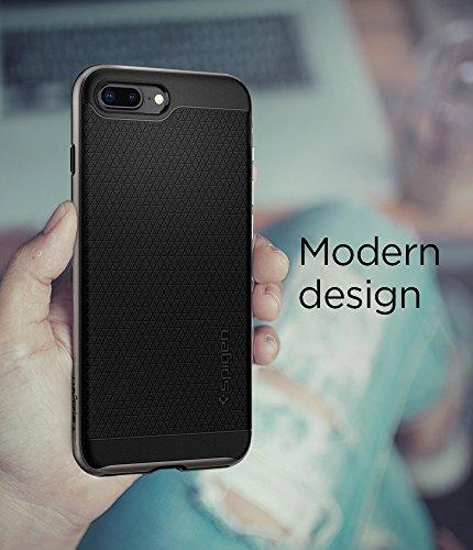 iPhone 8 PLUS / 7 PLUS Hülle, Spigen® [Neo Hybrid 2] iPhone 8 PLUS Hülle, Doppelschichter Schutz [Gunmetal] Zweite Generation des Neo Hybrid für iPhone 8 PLUS 2-teilige Premium Handyhülle (Schwarz) Si