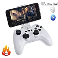 Morjava PXN-6603 -Speedy Wireless Bluetooth Gamepad Game Controller Gaming Joystick for iOS iPhone with iTunes App Store Controller Games Apple MFi Certified-White) by Morjava