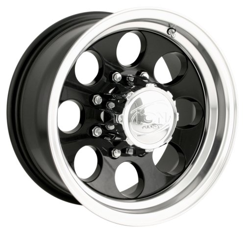 Ion Alloy 171 Black Wheel with Machined Lip - Lip Wheels Machined