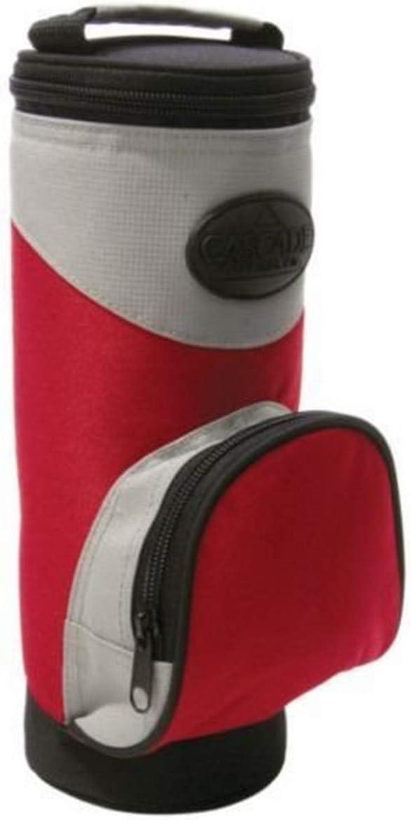 2-To-Go Zippered Beverage Cooler with Shoulder Strap, Clip, and Front Pocket