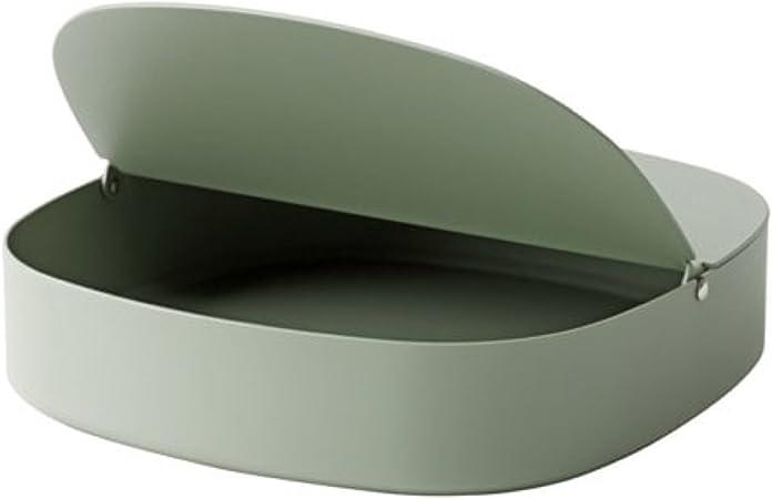 Ikea Ypperlig - Caja con Tapa, Color Verde, Tamaño 8 x 7 x 4: Amazon.es: Hogar