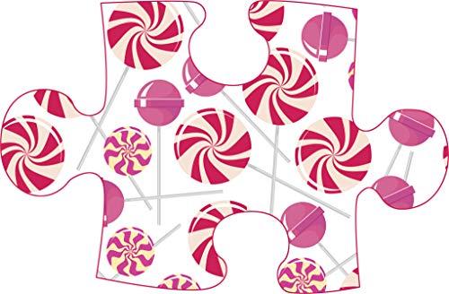 (Cute Peppermint Candy Lollipop Sweets Pattern Cartoon Icon Vinyl Sticker (2