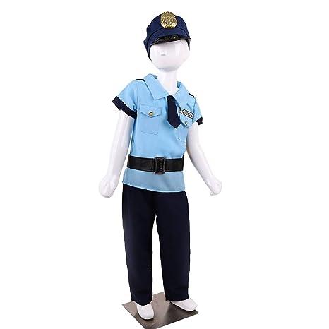 Toyvian niño policía policía Uniforme niños policía Disfraz ...