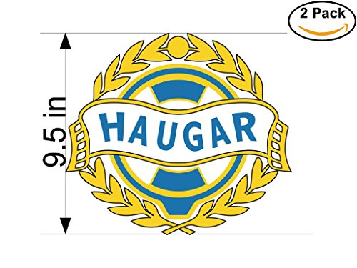 fan products of Haugar Haugesund Norway Soccer Football Club FC 2 Stickers Car Bumper Window Sticker Decal Huge 9.5 inches