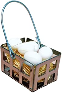 Yevison 1:6 1:12 Scale Miniature Egg Basket Model Garden Dollhouse Accessories Adorable Quality and Practical