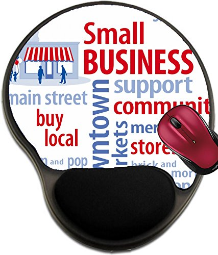 Liili Mousepad wrist protected Mouse Pads/Mat with wrist support design IMAGE ID: 17072615 Small Business Word Cloud with customers and main street store in red white and - Chestnut Street On Stores