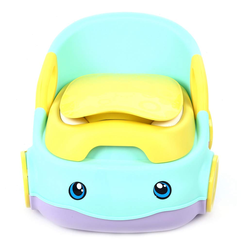 Baby Toilet Gray Portable Split Type Travel Potty Training Toilet Increase Thickening Shatter-Resistant Toilet Bedpan for Toddler Kids