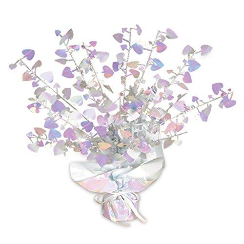 - Beistle 70805-OP Opalescent Heart Gleam 'N Burst Centerpiece, 15-Inch, 1 Per Package