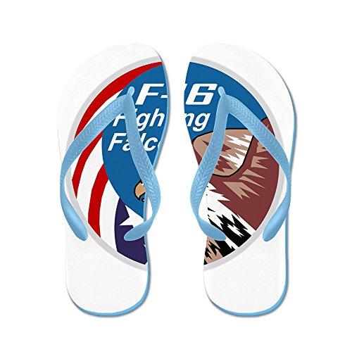 CafePress Fighting_Falcon - Flip Flops, Funny Thong Sandals, Beach Sandals Caribbean Blue