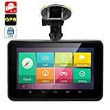 7 Inch Android 4.4 GPS with Dash Cam - Touchscreen , FM Transmitter, Wi-Fi