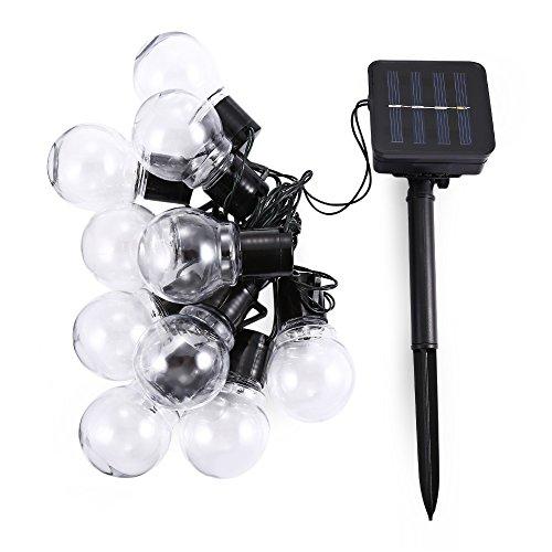 Businda Solar String Lights 10 LED Bulb String Lights Decorative Lighting for Garden Holiday Party,White by Businda