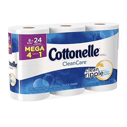 Cottonelle Clean Care Mega Roll Bath Tissue Toilet Paper, 6 Count