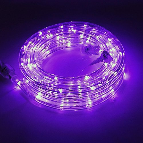 KXY UL Certified 16 Feet 80 LED Connectable Rope Tube Light Indoor Outdoor Party Holiday Light Purple