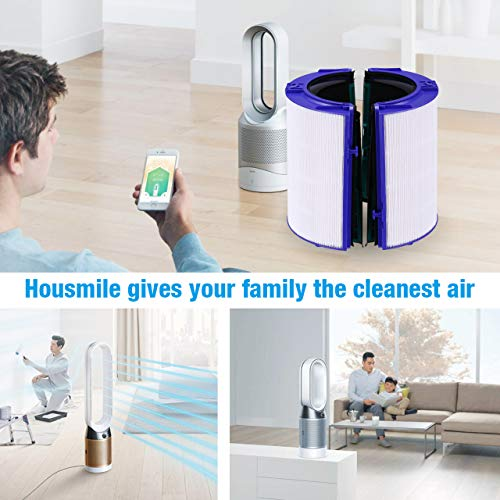 Housmile Replacement Filter for Dyson HP04 TP04 DP04 Air Purifier Sealed Two Stage 360-degree Filter System Pure Cool Filter True Glass HEPA Filter Activated Carbon Filter