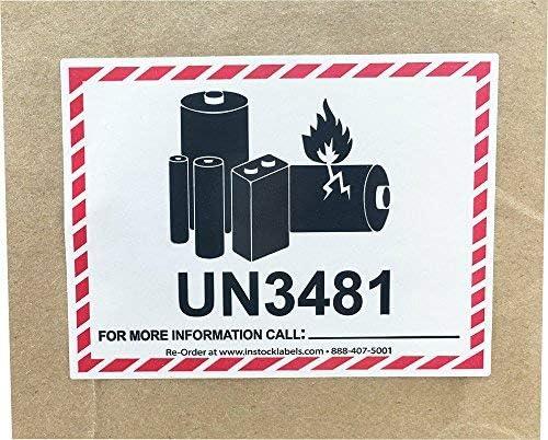 3480//3481 Plaque 3090//3091 Piles lithium-ion Sans num/éro de t/él/éphone Sans n/° Auto-imprimante//adh/ésive Etiquettes dangereuses Adh/ésif 120 x 110mm