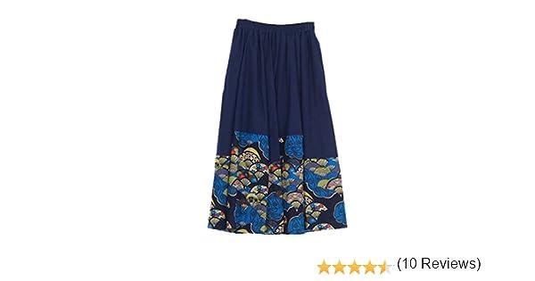 NiSeng Mujeres Vintage Faldas étnicas Largas Irregular Falda Larga ...