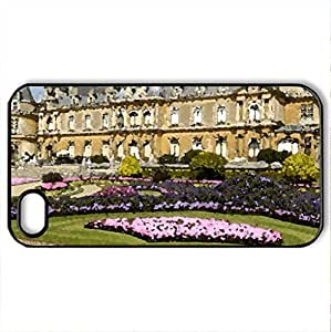 Castle - Case Cover for iPhone 4 and 4s (Ancient Series, Watercolor style, Black)