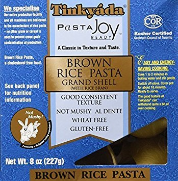 Tinkyada Brown Rice Pasta Grand Shell 8 ()