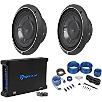2 Rockford Fosgate P3SD2-10 10 600W Shallow Car Subs+750W RMS Amplifier+Amp Kit