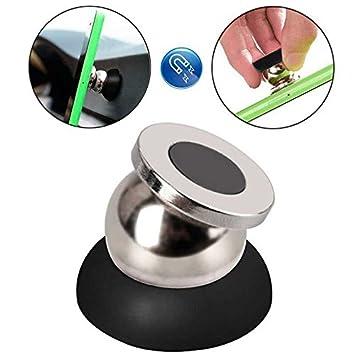 Ociodual Soporte Adhesivo Imán Magnético de Coche para Móvil Universal Smartphone Negro: Amazon.es: Electrónica