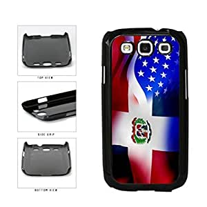 Dominican Republic and USA Mixed Flag Plastic Phone Case Back Cover Samsung Galaxy S3 I9300