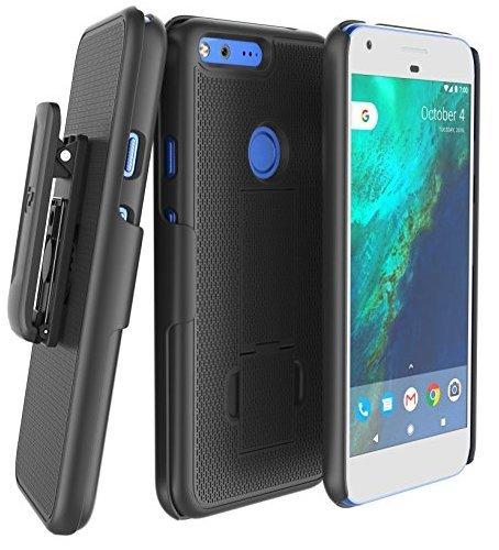 Encased Google Pixel Belt Clip Case, DuraCLIP [Secure-fit] Holster w/Slim Cover (Smooth ()