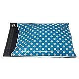 Shop4Mailers 12 x 15.5 Blue Polka Dot Poly Bag Mailer Envelopes 2 Mil (1000 Pack)