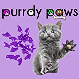 Purrdy Paws Soft Nail Caps for Cat Claws Purple Large