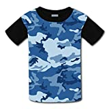 Blue Navy Camo Meisai Camouflage Kid T-Shirt Custom Print Cute Tee Child Tops XL
