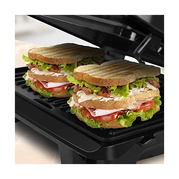 Aigostar Hett 30HHJ - Panini Maker/Griglia, Pressa a sandwich, Griglia elettrica, 1000 Watt, Fredda al tocco… 4