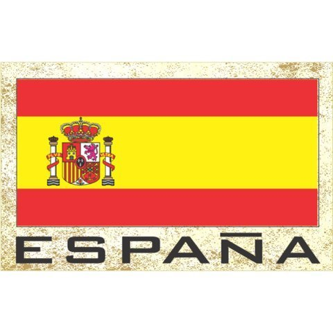 Flag Fridge Refrigerator Magnets - Europe Grp 1 (12-Pack, Country: Espana Spain ) by FNG Flag Fridge Magnets