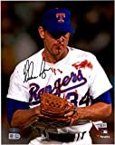 Nolan Ryan Texas Rangers Autographed 8' x 10' Bloody Lip Black Ink Photograph - Fanatics Authentic Certified