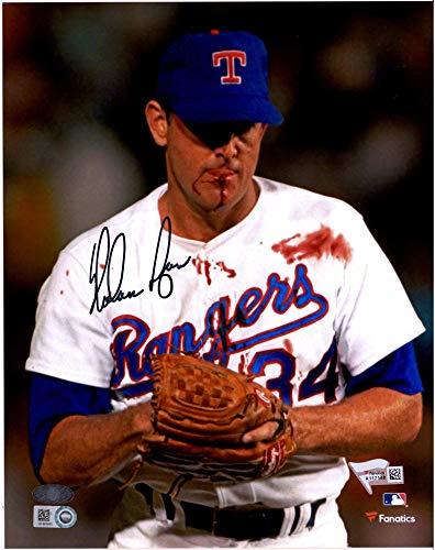 Nolan Ryan Texas Rangers Autographed 8