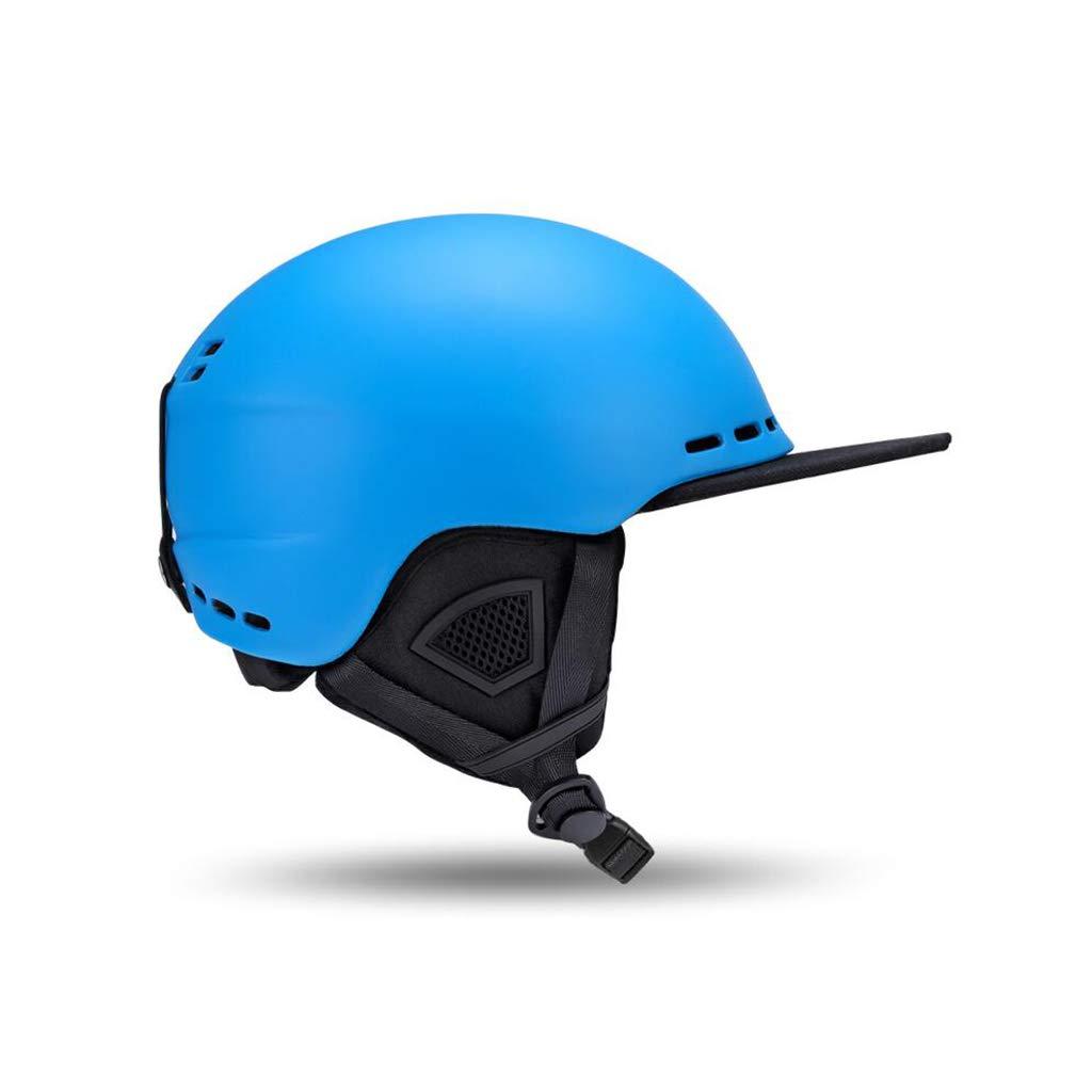 ★お求めやすく価格改定★ スキー&スノーボード用ヘルメット、スキー用保護安全帽スケートボードスケート用ヘルメット調節可能なヘッドバンド付きキャップひさし B07NJSL84Z 青 L l|青 青 L l L l|青, サイタマシ:9fe5e2be --- a0267596.xsph.ru