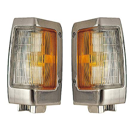 Fits 1990-1997 Nissan Pickup Pair Front Side Marker Lights Driver and Passenger Side Bright NI2550107 NI2551107 - replaces B6115-88G00 B6110-88G00