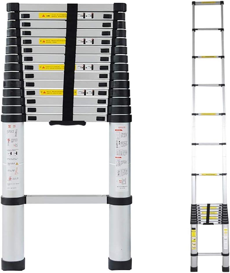 YXX-Escalera Extensible//Escalera Telesc/ópica 5 M 7 M Escaleras De Extensi/ón Telesc/ópicas Plegables Para Edificios Al Aire Libre Y Azote 8 M M/ás Alto Escalera Telesc/ópica Con Gancho Y Ruedas 6 M