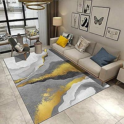 Damengxiang Gelb Grau Kunst Abstrakte Teppich Wohnzimmer Couchtisch
