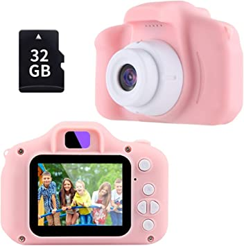 Amazon Com Gifts For 3 4 5 6 7 8 Year Old Girls Omway Camera For Kids Toys For 5 6 7 8 Year Old Toddlers Kids Christmas Easter Gifts 12mp Hd