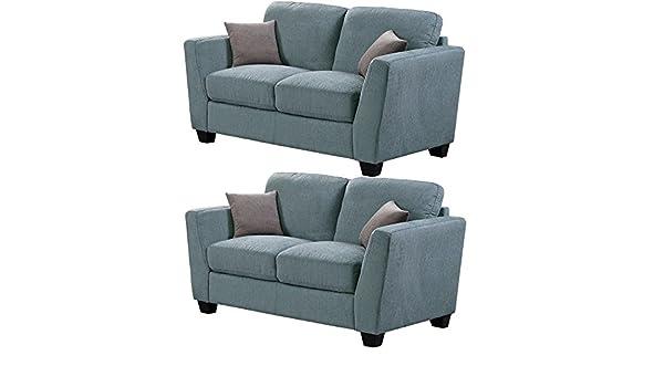 Tela de Chenille Amington azul sofá colección con asientos ...