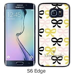 Unique Designed Kate Spade Cover Case For Samsung Galaxy S6 Edge Black Phone Case 222