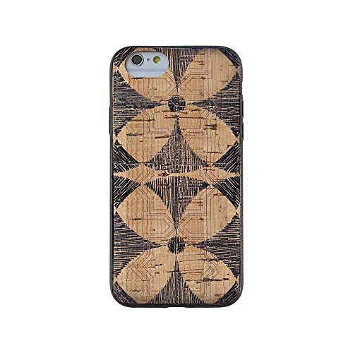- Wood Case Compatible with iPhone 7/8 - Natural Cork Wooden Fashion Case by Reveal Shop - Stylish, Eco-Friendly Cork Leather Exterior w/Flower Print (Flower Print, 7/8)