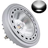 Bonlux 12W LED AR111 G53 reflector 12V fresco Equivalente blanca 5000K 24 grados Cree COB LED AR111 lámpara del punto 75 vatios